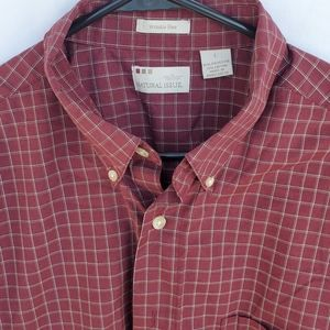 2 /$20 EUC Men's Wrinkle-Free Maroon Shirt